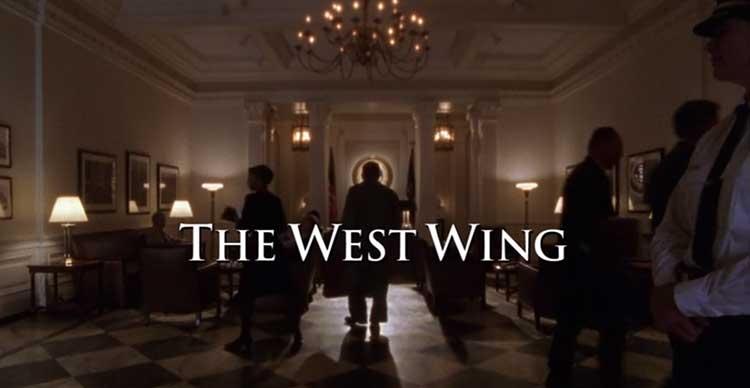 The West Wing credits for the Pilot episode in season one.