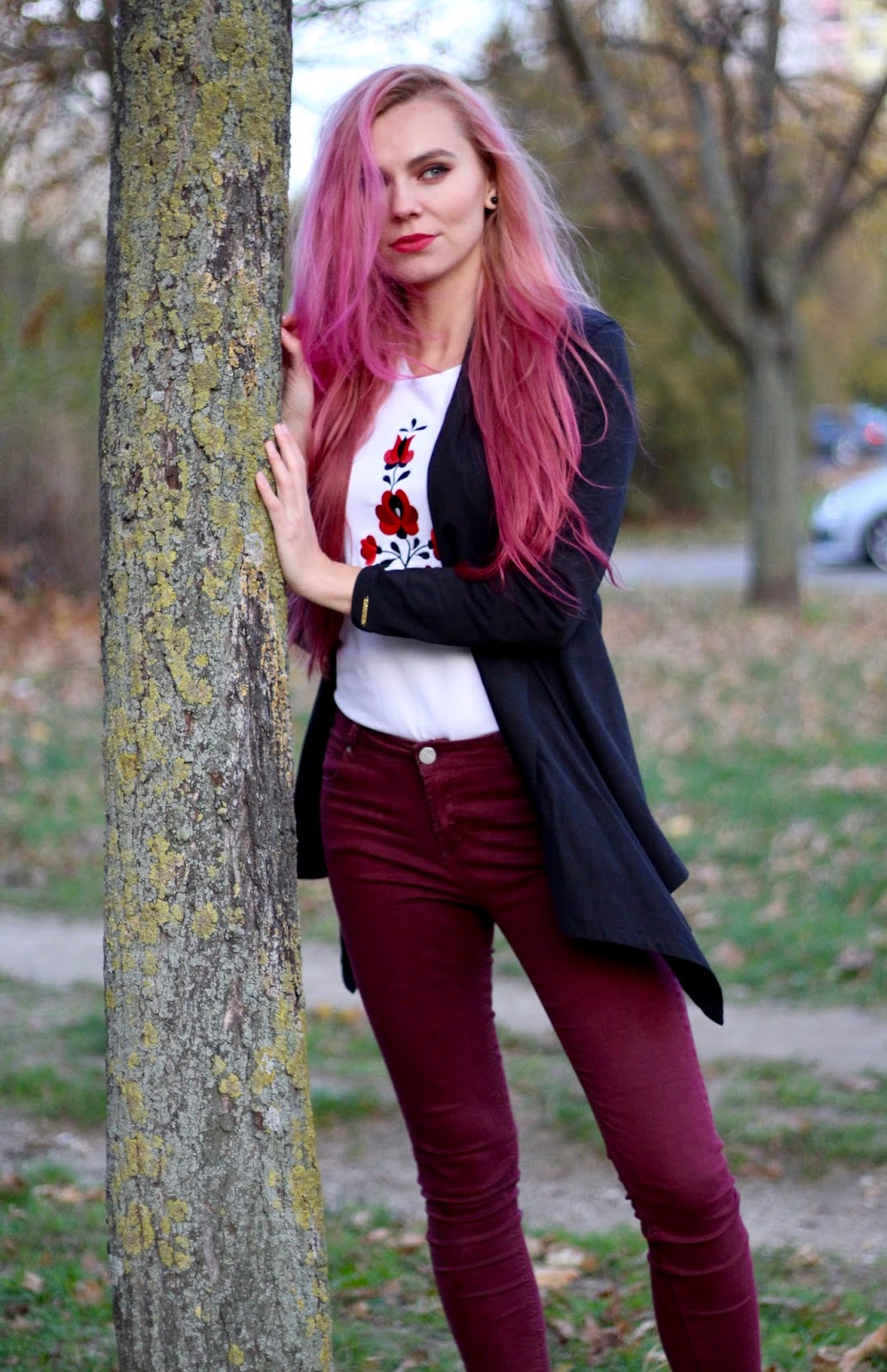 ružové vlasy