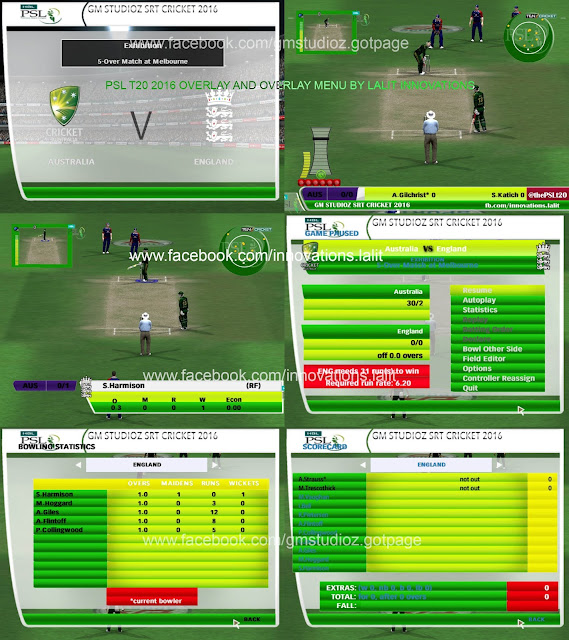 GM Studioz PSL 2016 Overlay For Cricket 07