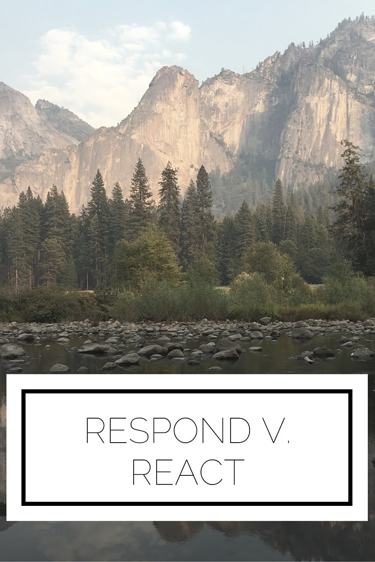 Click to read now, or pin to save for later! There is a major difference between responding and reacting...learn how to pick the best one