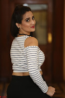 Manjusha in sleevelss crop top and black skirt at Darshakudu pre release ~  Exclusive Celebrities Galleries 016.JPG