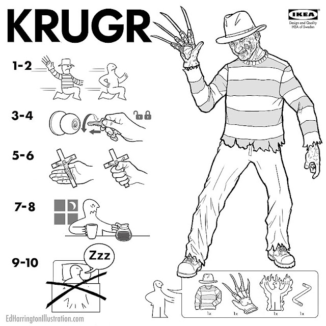 Ed Harringtons IKEA Anleitungen für Horror Film Figuren