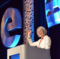 ARPA-E director Ellen Willams gives her opening remarks Monday at the ARPA-E Innovation Summit. (Credit: ARPA-E) Click to Enlarge.