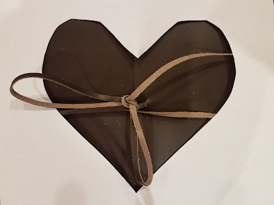 third anniversary leather heart