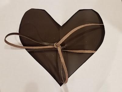 third anniversary leather heart