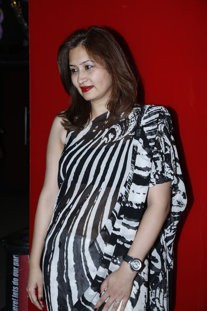 Badminton Player Gutta Jwala Stills In Black Saree