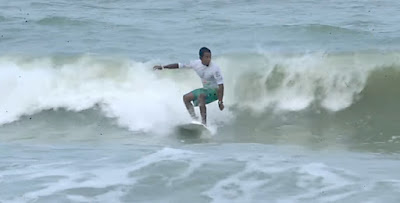 Surfing at Sasihithlu beach Mangalore where you can find seaside stays