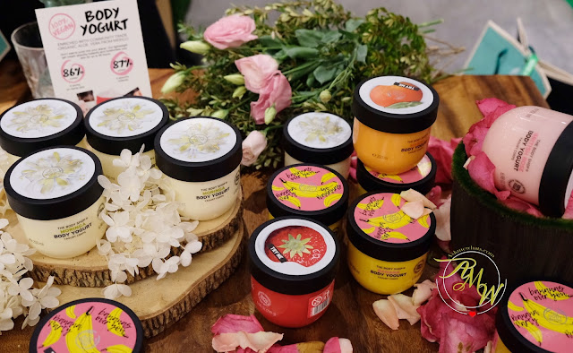 a photo of The Body Shop Lip Juicers review plus launch of The Body Shop #15secondsto Body Yogurts and Face Mists.