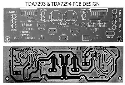 PCB Layout TDA7293 TDA7294 Power Amplifier