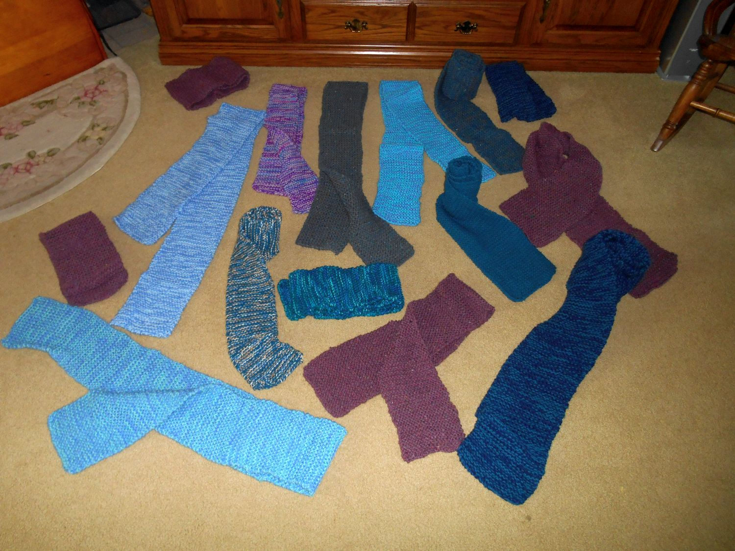 Knitting Scarves For The Homeless : Bridge and beyond scarves warm homeless in need