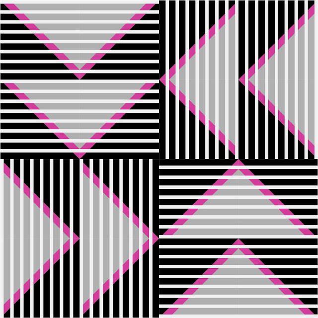 Split Mountain quilt block from Quiltmaker's 100 Blocks Volume 15