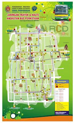 Peta rute jalur Trans Jogja lengkap, ransportasi nyaman di Yogyakarta.