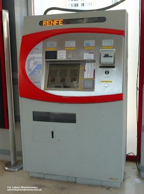 Automat biletowy, RENFE