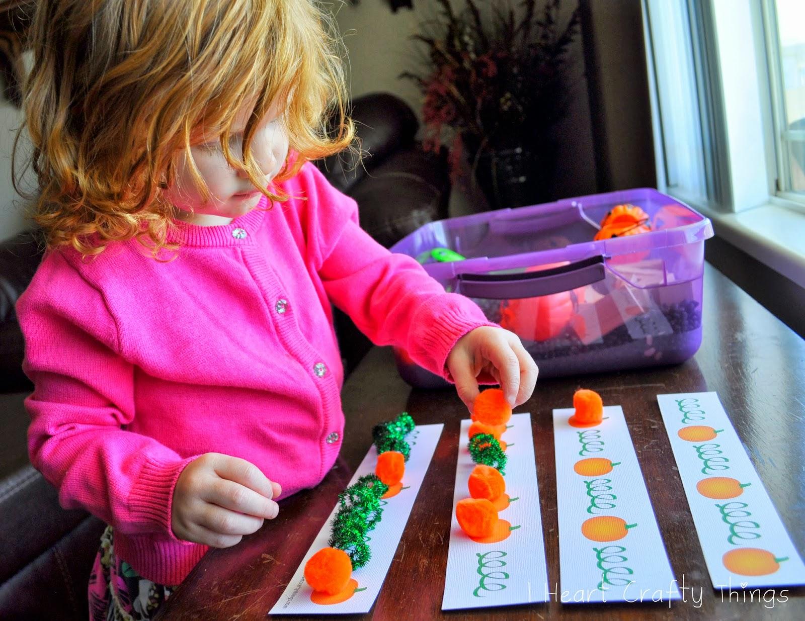 Pumpkin Pattern Worksheet For Sensory Bin