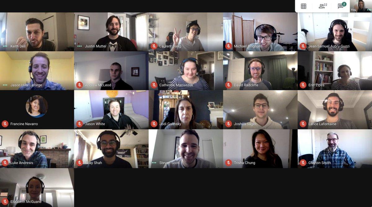 Griglia partecipanti riunione Google Meet