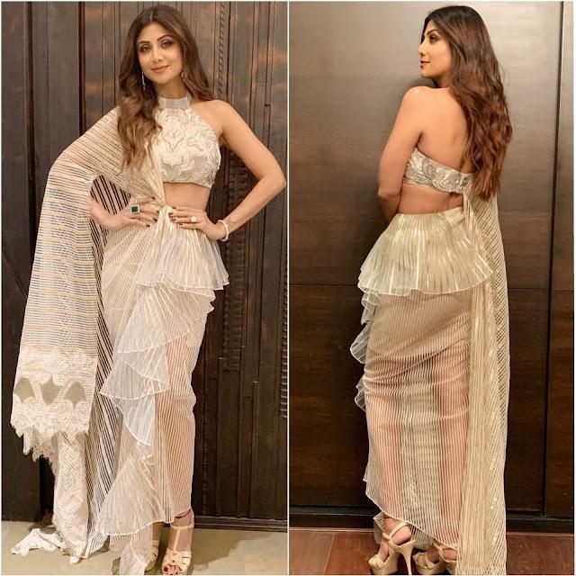 Shilpa Shetty Wears Amit Aggarwal for Diawali Bash
