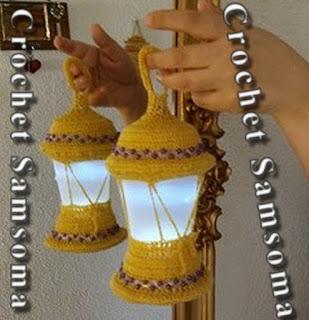 طريقة عمل فانوس رمضان بالكروشيه . كروشيه فانوس . How to make a lampshade crochet . كروشيه قنديل رمضان . قناديل رمضان .  . crochet Ramadan .فوانس كروشيه . فوانس رمضان . فانوس رمضان .  فانوس رمضان كروشيه .How to make a lantern . . How to crochet the lantern  .  كروشيه زينة رمضان .
