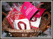 Snowman Candle Cozy Kit