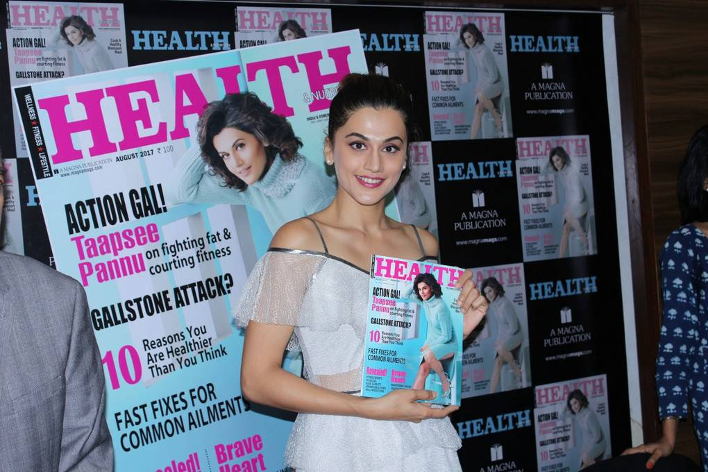 Tapsee Pannu Photos At Health And Nutrition Magazine Launch