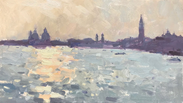 #384 'Venice, Early Evening' x2 paintings