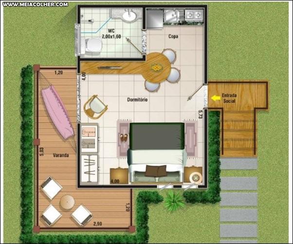 Casa de 1 quarto e 1 banheiro 3