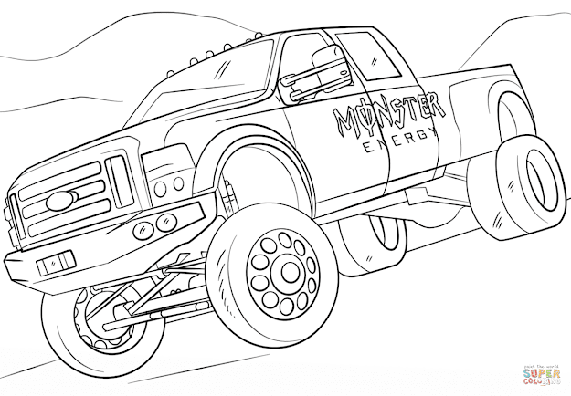 Click The Monster Energy Monster Truck Coloring Pages To View Printable  Version Or Color It Online Patible With Ipad And Android Tablets