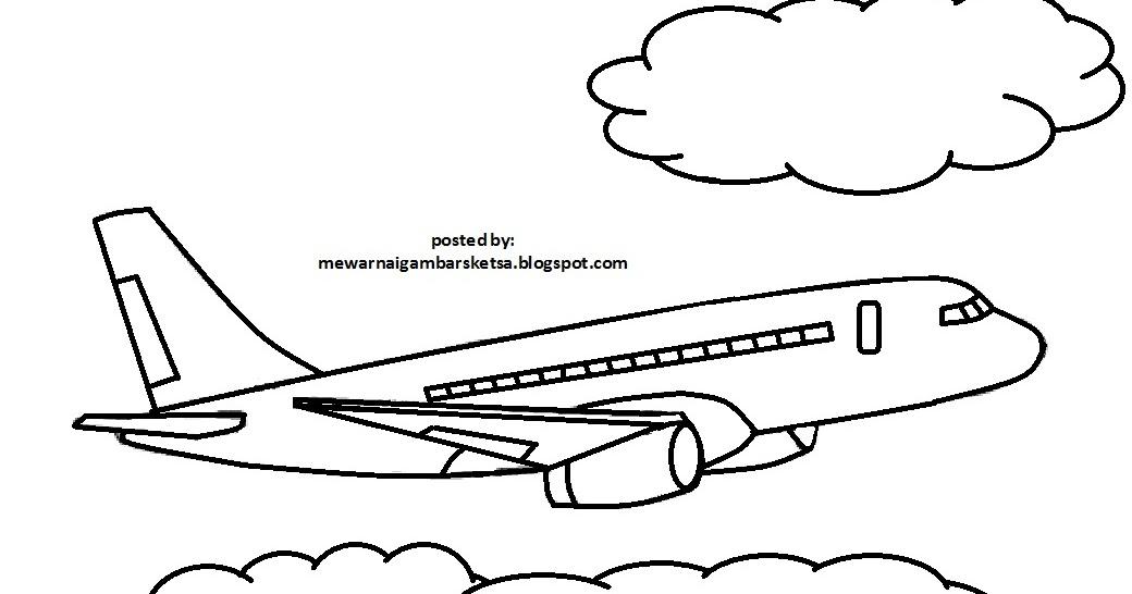 Mewarnai Gambar Pesawat Garuda U Warna