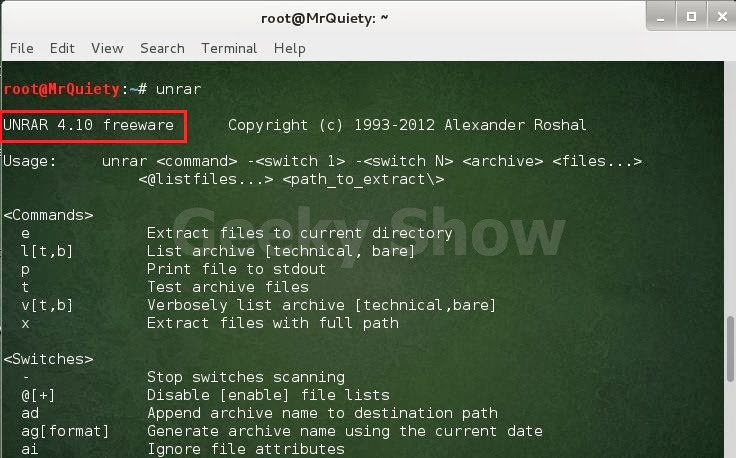 How to extract rar and unzip zip files in kali linux - Hack