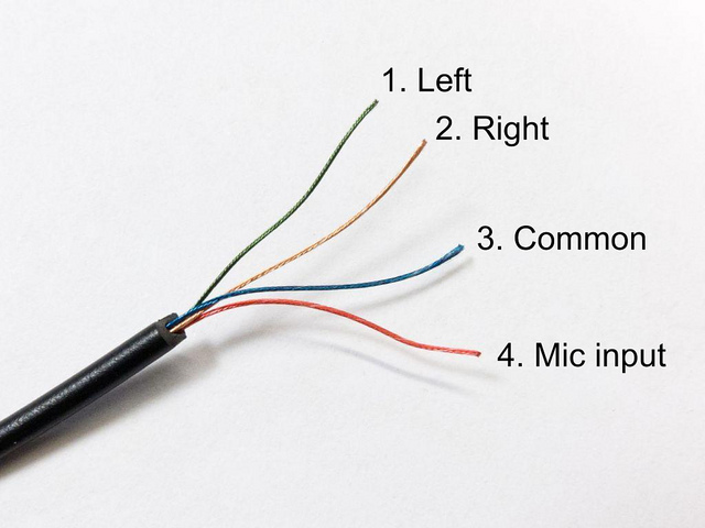 headphone wiring colors