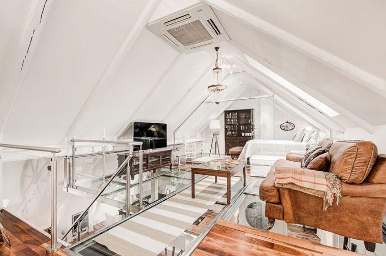 PUNTXET Un ático extremadamente elegante en Estocolmo #decor #decoracion #hogar #home #estilonordico #nordicstyle #livingroom