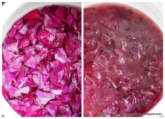 syrop rozany, platki roz, rozany ogrod, roza pomarszczona, syrop z platkow rozy, przetwory, na zime