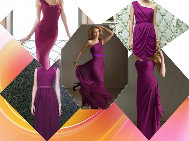 Purple bridemaid dresses