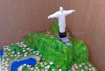maqueta de cristo redentor