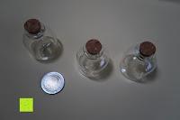 Vergleich: SET Mini-Fläschchen aus Echtglas mit Korken für Dekoration, Apotheker-Fläschchen / Spundflasche, zur Aufbewahrung kleiner Mengen oder als Puppenfläschchen / Dekoration / Basteln / Korken-Flaschen - Marke Ganzoo (3er SET L (20ml))