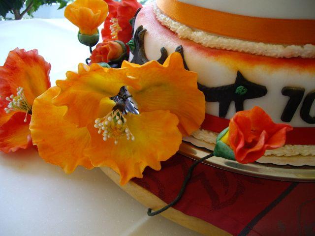Mohnblüten aus Zuckerpaste