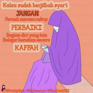 Gambar DP BBM jilbab hijab terus memperbaiki diri