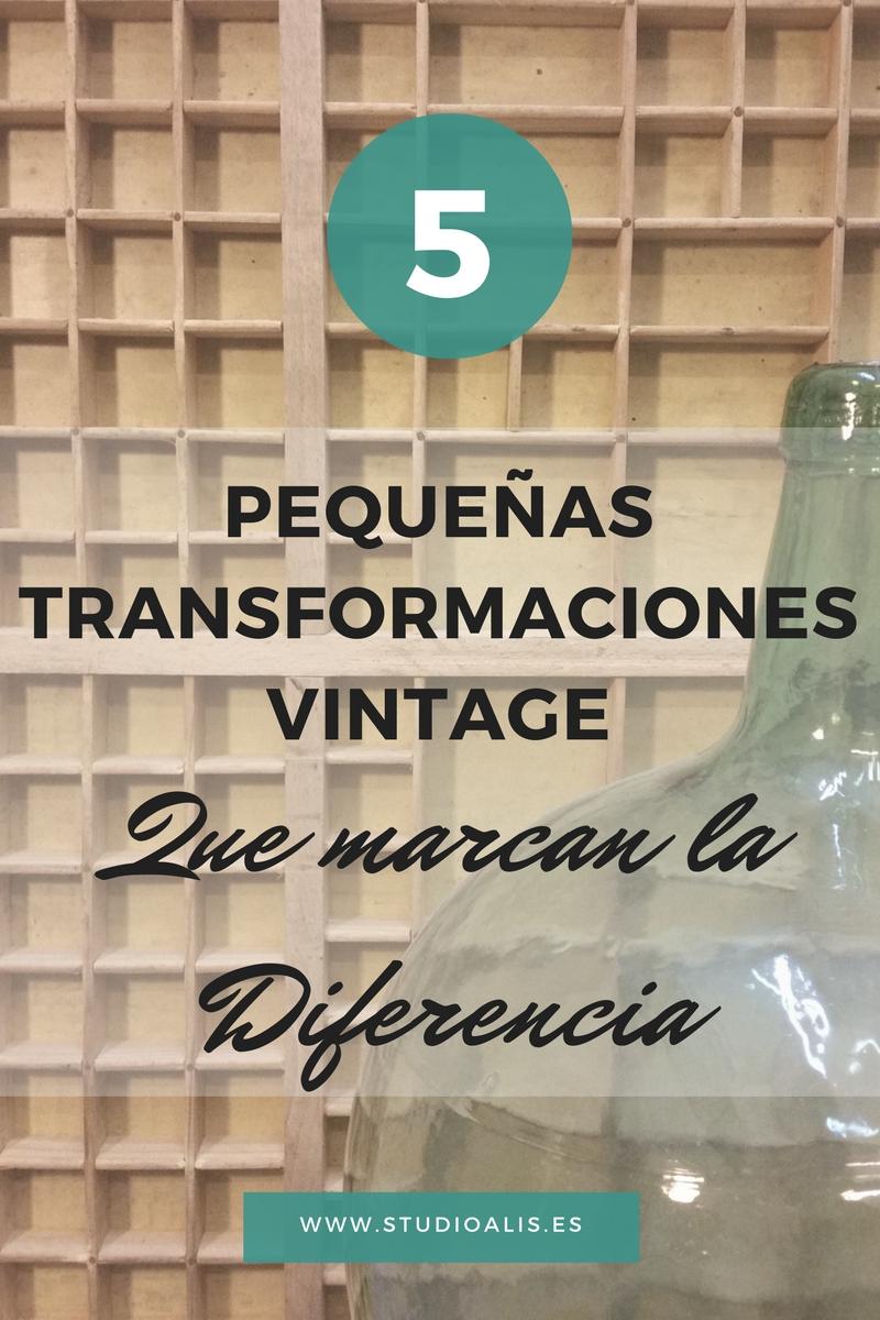 Cinco pequeñas transformaciones vintage