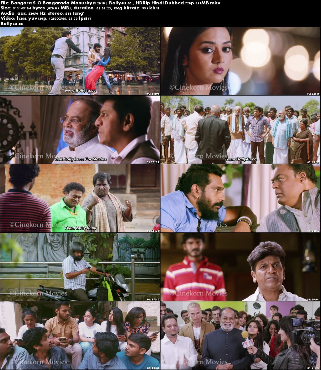 Bangara S/O Bangarada Manushya 2018 HDRip 350MB Hindi Dubbed 480p Download
