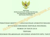 PERMENPAN RB NOMOR 29 TAHUN 2018 TENTANG PEDOMAN PELAKSANAAN ANUGERAH APARATUR SIPIL TAHUN 2018