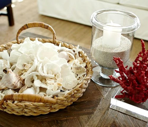 Round Basket Tray Decor