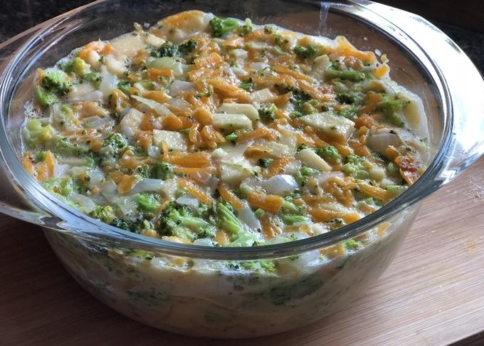 Puding de brócoli y calabaza