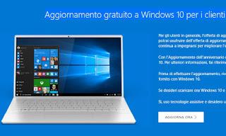 aggiorna windows 10 dopo 29 luglio
