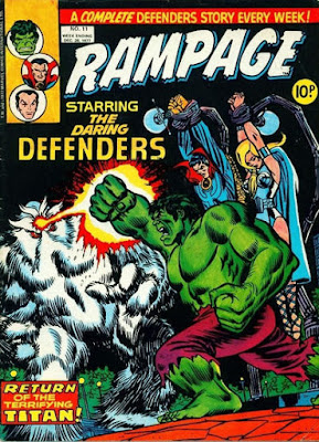 Marvel UK, Rampage #11, Defenders vs Xemnu