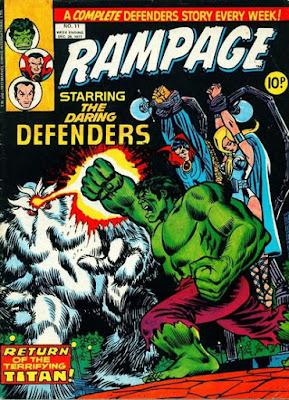 Marvel UK, Rampage #11, Defenders vs Xemnu