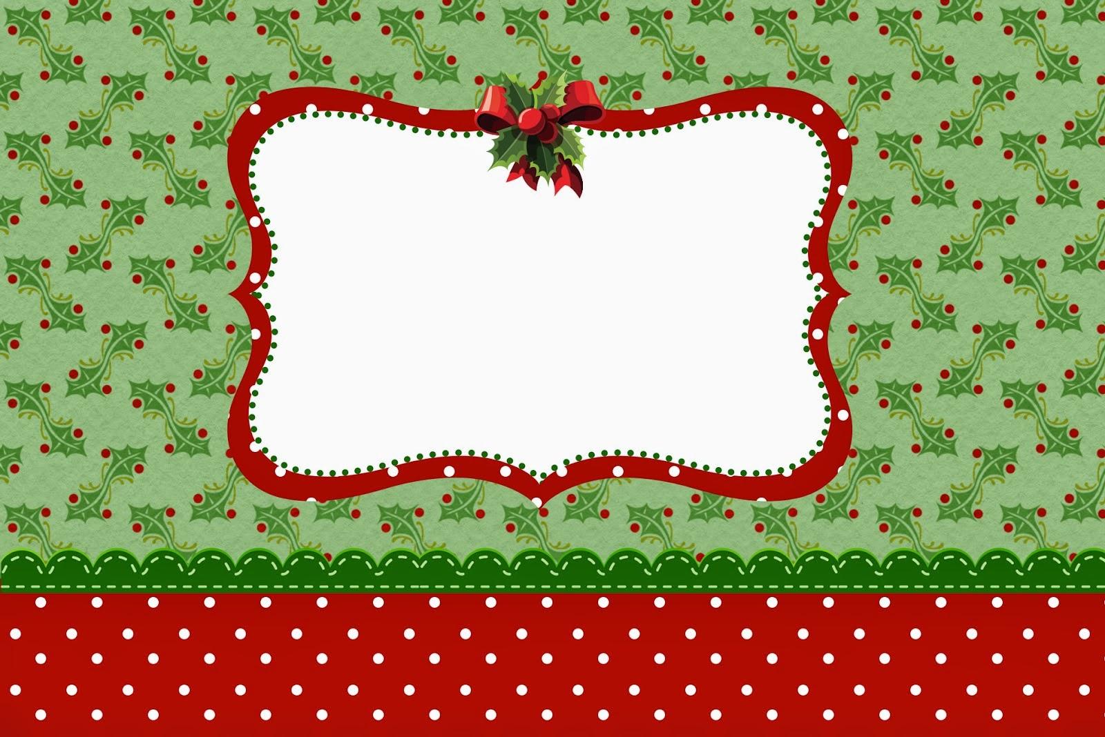 Charming Christmas Free Printable Invitations Or Cards