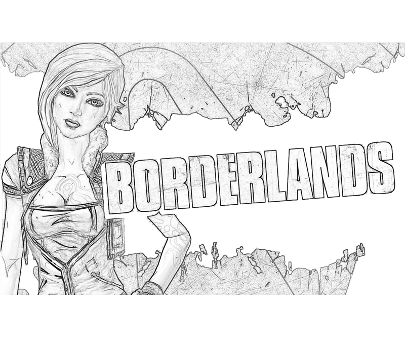 borderlands coloring pages - borderlands 2 lilith weapon surfing