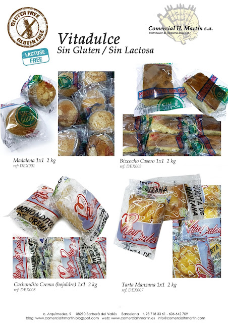 Sin Gluten - Sin Lactosa - Comercial H. Martín sa