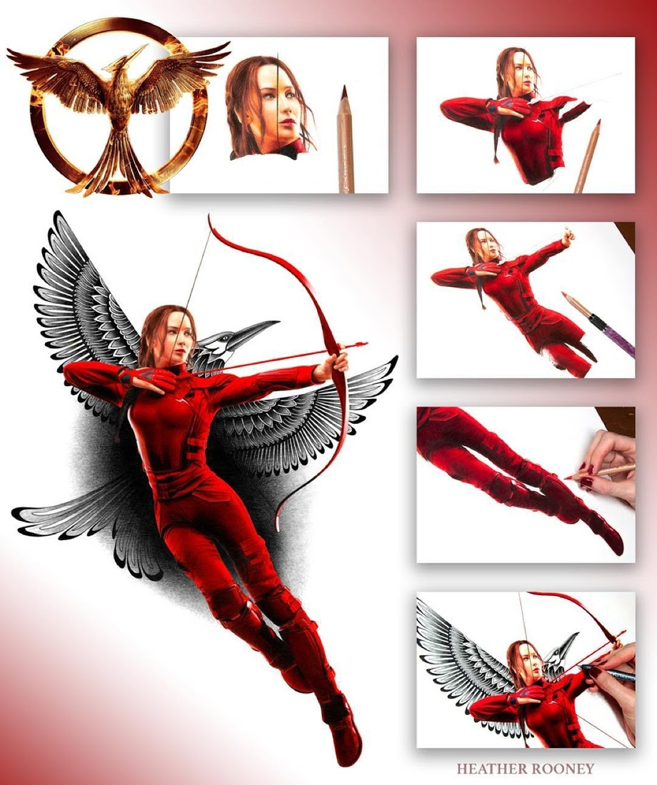 07-Jennifer-Lawrence-Katniss-The-Hunger-Games-Heather-Rooney-Photorealistic-Colored-Pencil-Drawing-Portraits-www-designstack-co