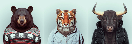 01-Artist-YAGO-PARTAL-Clothed-Animals-Bear-Tiger-Bull