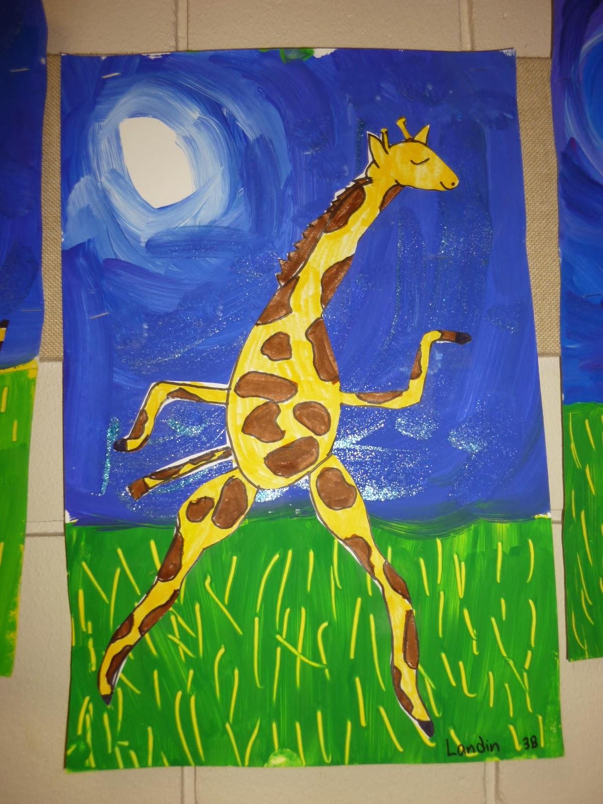 Mrs Werner S Art Room 3rd Grade Giraffes Can T Dance